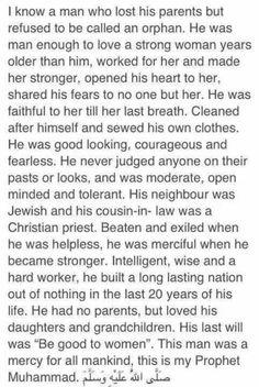 This is our Prophet Muhammad Terrorrist has nothing to do with islam! Islam Hadith, Islam Muslim, Islam Quran, Alhamdulillah, Muslim Women, Prophet Muhammad Quotes, Quran Quotes, Hadith Quotes, Arabic Quotes