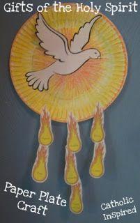 Actividades del Espíritu Santo para niños en catecismo.