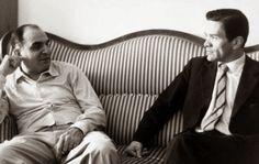 Attilio Bertolucci e Pier Paolo Pasolini Pier Paolo Pasolini, Creepy Vintage, Vintage Photography, Che Guevara, Cinema, Film, Men, Writers, Fictional Characters
