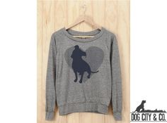 Dog/Cat Heart Silhouette Slouchy Pullovers (NEW PRODUCT!) On sale w/ Many Dog & Cat Breeds Available.  Limited Quantity on sale @Coupaw