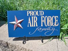 Proud Airforce Family  Blue by SimplySaidSayings on Etsy, $9.00
