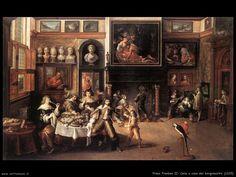 Cena a casa del borgomastro, Frans Francken,1635