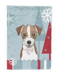 Winter Holiday Jack Russell Terrier Flag Garden Size BB1698GF