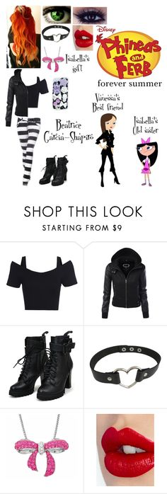 """""""Phineas & Ferb OC"""" by nebulaprime ❤ liked on Polyvore featuring beauty, Guide London, Amanda Rose Collection, Charlotte Tilbury and cutekawaii"""