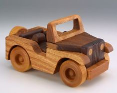 Wooden Little Jeep wood toys, wood car, wooden toys Making Wooden Toys, Handmade Wooden Toys, Wooden Baby Toys, Wood Toys, Wooden Diy, Wood Car, Wooden Airplane, Wooden Toy Trucks, Waldorf Toys