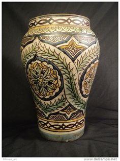 BELLE JARRE FAIENCE KHABIA MAROC VERS 1900 / Meknès fez safi orientalisme