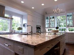 Love the idea of see through cabinets...storage and natural light!