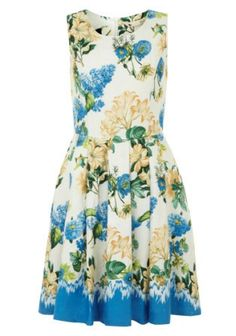 Yumi floral dip dye dress, white WAS NOW Dip Dye Dresses, Day Dresses, Vintage Inspired Dresses, Vintage Dresses, Floral Dresses, Garden Dress, Knee Length Dresses, Fit Flare Dress, Dress Up