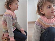 Hledáte návod zdarma na hezký a jednoduchý pletený dětský svetr? Pak si přečtěte můj článek s návodem na pletení svetru s kulatým sedlem pletený shora dolů