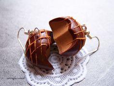 Boucles d'oreilles Chocolat Caramel Onctueux - Bijou très Gourmand - Miniature Fimo. : Boucles d'oreille par petitsgrainsdecel