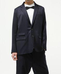 GANRYU Men's(ガンリュウ メンズ)の2016SS ウールギャバジンテーラードジャケット(テーラードジャケット)|ネイビー