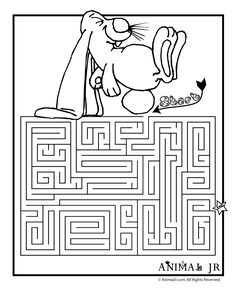 Easter Coloring Pages and Printable Mazes - Woo! Easter Worksheets, Free Kindergarten Worksheets, Free Worksheets, Spring Coloring Pages, Easter Coloring Pages, Mazes For Kids, Activities For Kids, Printable Mazes, Printables