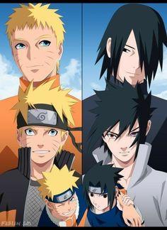 The Brothers-Naruto & sasuke. The Brothers-Naruto & sasuke. Naruto Shippuden Sasuke, Naruto Kakashi, Anime Naruto, Otaku Anime, Naruto Shippudden, Naruto Teams, Naruto Cute, Naruto Sasuke Sakura, Sasunaru