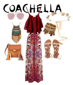 """Coachella"" by manoumi ❤ liked on Polyvore featuring Eugenia Kim, Etro, Billabong, Boohoo, Chloé and Leslie Danzis"