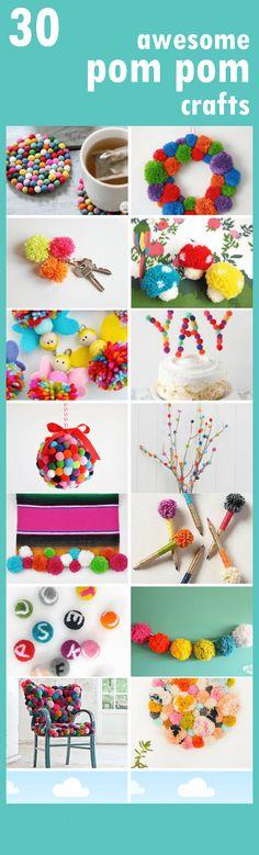 30 awesome POM POM crafts