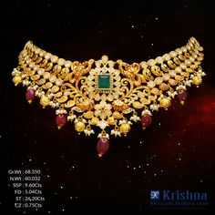 Exquisitely designed for every Indian bride. Bridal Jewellery, Gold Jewellery, Wedding Jewelry, Diamond Jewelry, Jewelery, Designer Jewellery, Jewellery Designs, Necklace Designs, India Jewelry