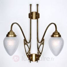 Applique murale Vienne à 2 lampes en laiton 1542110