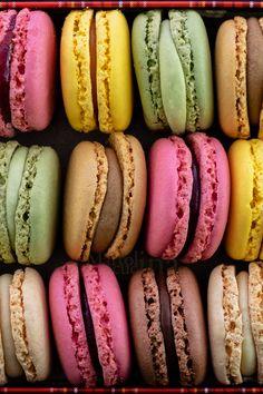 Items similar to Ladurée Macarons Fine Art Photography Print on Etsy Think Food, I Love Food, Good Food, Yummy Food, Baking Recipes, Dessert Recipes, Kreative Desserts, Food Goals, Cafe Food