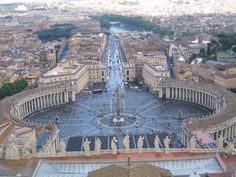 view from top of St Peters basilica
