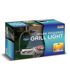 See your food easily at night with this handy portable grill light. Features four brilliant LED bulbs. While you'll typically turn the light on and off during cooking as needed, it can shine up to four hours continuously after full sunlight charging.