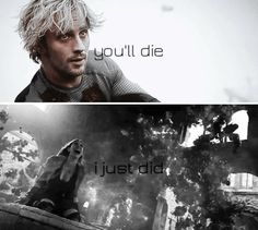 """""""if you stay here, you'll die."""" """"i just did."""" #marvel"""