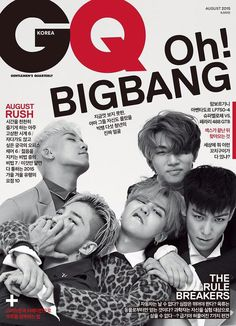 """PREVIEW OF BIGBANG ON THE COVER OF """"GQ KOREA"""" (AUGUST 2015)"""