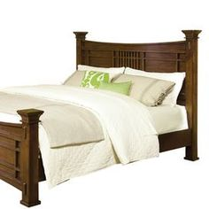 "Lend a touch of classic appeal to your master suite or guest room with this handsome headboard, showcasing finial posts and a warm oak finish.  Product: HeadboardConstruction Material: Oak veneers, rubberwood solids and engineered woodColor: Warm oakFeatures:  Finial posts   Dimensions: Queen: 60"" H x 65"" W x 6"" DKing: 60"" H x 82"" W x 6"" DNote: This product is a headboard only. Picture shows the full bed for illustration purposes only.Cleaning and Care: Clean with a soft cloth"