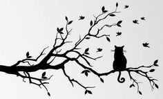 http://www.spartacusart.co.uk/cat-on-a-branch-watching-birds-wall-art-sticker/