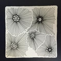 Last Thursday , among the tiles that I posted was my recent exploration with Livia Chau's  Sooflowers.   By adding rays from the center...