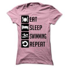 Eat Sleep Swim Swimming inspired Printed Hoodie