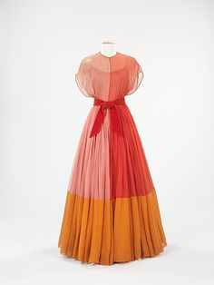 Evening Dress 1959, American, Made of silk