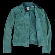 UNIONMADE - 1960s Suede Trucker Jacket in Turquoise Suede