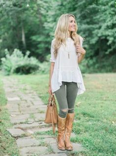 cowboy boots with jeans and loose top