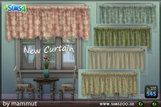 Sims 4 CC's - The Best: Curtain Country by Mammut - Blackys Sims Zoo
