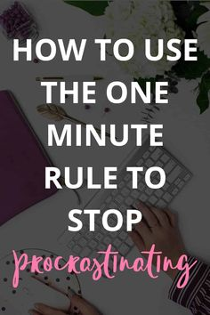I'm ALWAYS looking for ways to be more productive. The One Minute Rule is one of the BEST ways I know to actually stop procrastinating and get more done! Improve Productivity, Planning And Organizing, Productive Day, How To Stop Procrastinating, Time Management Tips, Work Life Balance, Achieve Your Goals, Mindful Living, Motivate Yourself