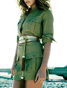 Miss Sunshine - Safari Outfits, Safari Dress, Modern Outfits, Classic Outfits, Nomad Clothing, Louis Vuitton Collection, Safari Chic, Safari Jacket, Fashion Outfits