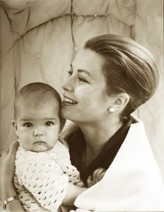 Princess Grace and baby Stephanie, 1965.