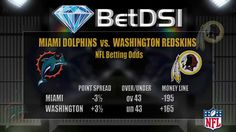 Miami Dolphins vs Washington Redskins Odds | NFL Picks