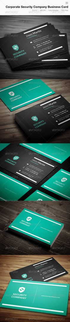 """Corporate Security Company Business Card - 05  #GraphicRiver         Business card – perfect for any idustry.  Features.   2.0×3.5 (2.25"""" x 3.75"""" with bleed)  300 DPI CMYK Print Ready!  Full Editable, Layered   you can find fonts here   Open Sans  Lato   please dont forget to rate it.     Created: 31October13 GraphicsFilesIncluded: PhotoshopPSD Layered: Yes MinimumAdobeCSVersion: CS2 PrintDimensions: 3.5x2 Tags: attractive #beautiful #brand #cmyk #color #cool #creative #designer #developer…"""