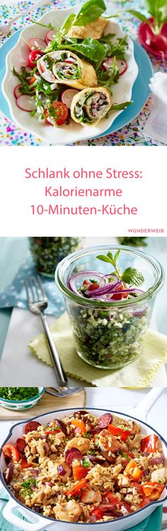 Quick recipes for losing weight: Low-calorie kitchen - You only need 10 minutes for these great and effective diet recipes. Quick Recipes, Diet Recipes, Healthy Recipes, Healthy Food, Nutrition Program, Diet And Nutrition, Weight Loss Meals, Losing Weight, Food Inspiration
