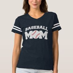 Baseball Mom Funny and Cute T-shirt