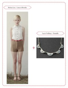 Half moon necklace by Lucie Veilleux with Betina Lou outfit.