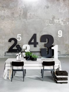 love the texture of the concrete with black and white. Chartreuse accent with bleached wood and my color palette is set :)