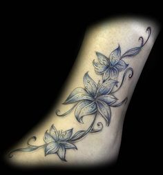 Since I have the most AMAZING artist, I bet he could do something like this to add to the flower on my foot.