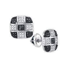 1-4CTW-Diamond BLACK MICRO-PAVE EARRING
