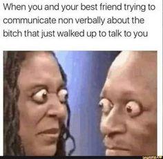 Funny Best Friend Memes, Really Funny Memes, Stupid Funny Memes, Funny Laugh, Funny Tweets, Funny Relatable Memes, Best Friend Stuff, When Your Best Friend, Fun Funny