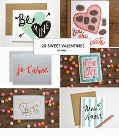20 Sweet Valentines on Etsy