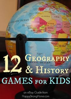 I couldn't believe how many cool games there are to teach history and geography! 12 Learning Games that teach US History, World History and Geography! #ebayguides #sponsored www.ebay.com/gds/12-History-and-Geography-Board-Games-That-Make-Learning-Fun-/10000000202374899/g.html