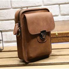 268de262b 7inch Cellphone Men Retro PU Leather Waist Bag Crossbody Bag Business Waist  Bag is worth buying. Hombres RetroCuero Para HombresMariconeras ...