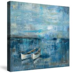 LauralHome Two Boats by Silvia Vassileva Painting Print on Canvas